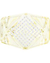 b0a29d8a6d3 Lyst - Chanel Crystal Star   Cc Cuff in Metallic
