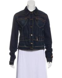 Just Cavalli - Denim Long Sleeve Jacket - Lyst