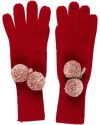 Moschino - Knit Wool Gloves Wool - Lyst