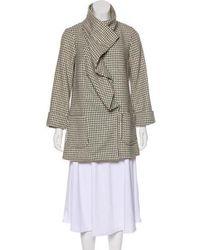 Loeffler Randall - Printed Wool Coat - Lyst