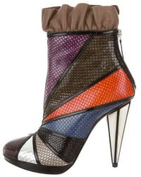 Rodarte - 2016 Patchwork Ankle Boots W/ Tags - Lyst