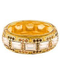 Judith Leiber - Glamour Gal Crystal Cuff Bracelet Gold - Lyst