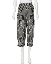 Ostwald Helgason - High-rise Embroidered Pants - Lyst