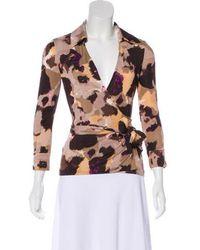 Diane von Furstenberg - Printed Silk Top - Lyst