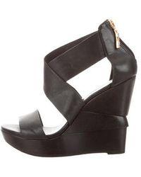 Diane von Furstenberg - Crossover Wedge Sandals - Lyst