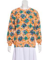 Mary Katrantzou - Printed Long Sleeve Sweatshirt Orange - Lyst