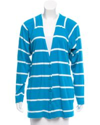 Dior - Striped Knit Cardigan - Lyst