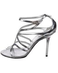 Roger Vivier - Leather Sandals Silver - Lyst