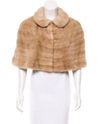 Marc Jacobs - Mink Cropped Capelet Tan - Lyst