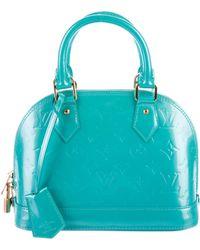 Louis Vuitton - Monogram Vernis Alma Bb Bleu - Lyst