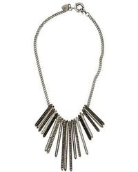 Giles & Brother - Crystal Lilu Spike Necklace Gold - Lyst