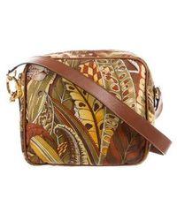 Ferragamo - Printed Nylon Shoulder Bag Brown - Lyst
