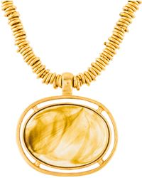 Chanel - Resin Pendant Necklace Gold - Lyst