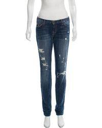 Current/Elliott - Mid-rise Distressed Jeans - Lyst