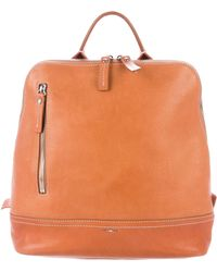Shinola - Grained Leather Backpack Silver - Lyst