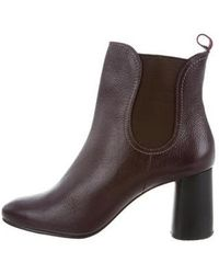 Rachel Comey - Leather Round-toe Ankle Boots W/ Tags Burgundy - Lyst