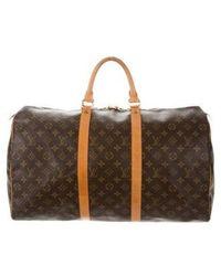 Louis Vuitton - Monogram Keepall 50 Brown - Lyst
