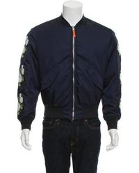 Dior Homme - Embroidered Bomber Jacket Blue - Lyst