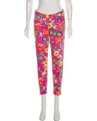 Kate Spade - Mid-rise Floral Jeans - Lyst