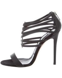 Prabal Gurung - Multistrap Leather Sandals - Lyst