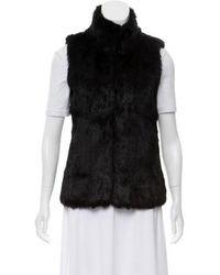 Michael Kors - Mock Neck Fur-trimmed Vest - Lyst