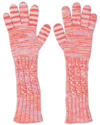 Missoni - Wool Long Gloves Orange - Lyst