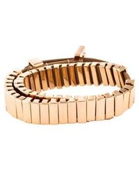 Michael Kors - Heritage Double Wrap Watch Link Bracelet Rose - Lyst
