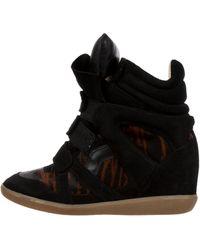 b2e48dab4415 Isabel Marant - Benett Ponyhair Sneakers - Lyst