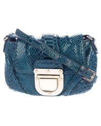 c749373769ee MICHAEL Michael Kors - Michael Kors Embossed Leather Crossbody Bag Blue -  Lyst