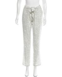 Saloni - Printed High-rise Pants - Lyst