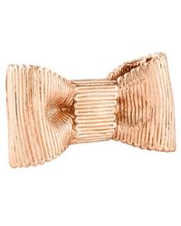 Kate Spade - All Wrapped Up Bow Statement Ring Rose - Lyst