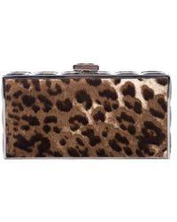 Judith Leiber - Ponyhair Box Clutch Leopard - Lyst