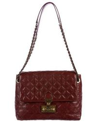 054a5857f10 Lyst - Marc Jacobs Baroque Quilted Leather Shoulder Bag Black in ...