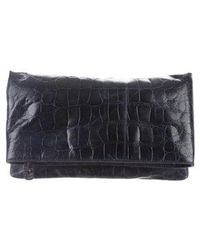 Alice + Olivia - Embossed Leather Clutch - Lyst