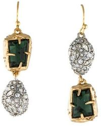 Alexis Bittar - Crystal Drop Earrings Gold - Lyst