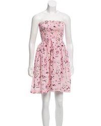 Piamita - Printed Silk Dress - Lyst