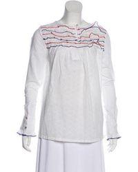 Banjanan - Ruffled Long Sleeve Blouse W/ Tags - Lyst