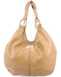 Miu Miu - Miu Grained Leather Hobo Gold - Lyst