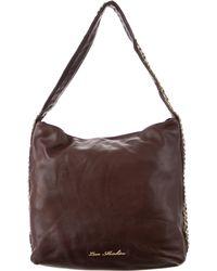 Love Moschino - Embellished Leather Shoulder Bag Brown - Lyst