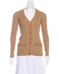 Jean Paul Gaultier - Crochet-trimmed Knit Cardigan Tan - Lyst