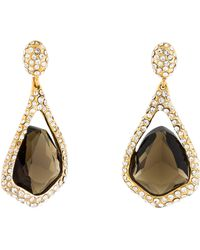 Alexis Bittar - Smoky Quartz & Crystal Miss Havisham Drop Earrings Gold - Lyst