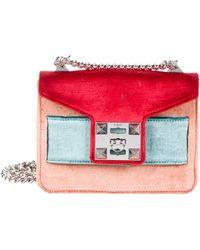 Salar - Mila Velvet Bag Red - Lyst