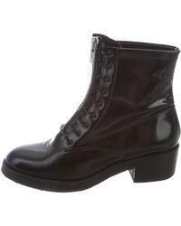 Sandro - Leather Lace-up Ankle Boots - Lyst