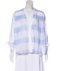 Alexis Mabille - Long Sleeve High-low Button-up W/ Tags - Lyst