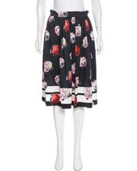 SUNO - Silk Floral Print Skirt - Lyst