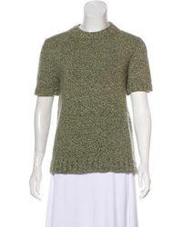 Kors by Michael Kors - Kors By Michael Merino Wool Knit Sweater Olive - Lyst