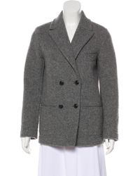 Cacharel - Wool-blend Button-up Coat Grey - Lyst