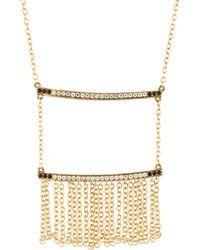 Elizabeth and James - Vago Topaz & Spinel Fringe Necklace Gold - Lyst