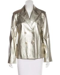 Marc Jacobs - Leather Jacket Silver - Lyst