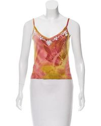 John Galliano - Printed Knit Top Pink - Lyst